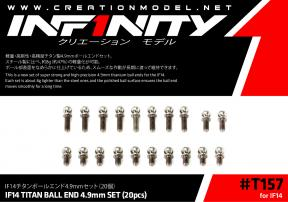 IF14 TITAN BALL END 4.9mm SET (20pcs)