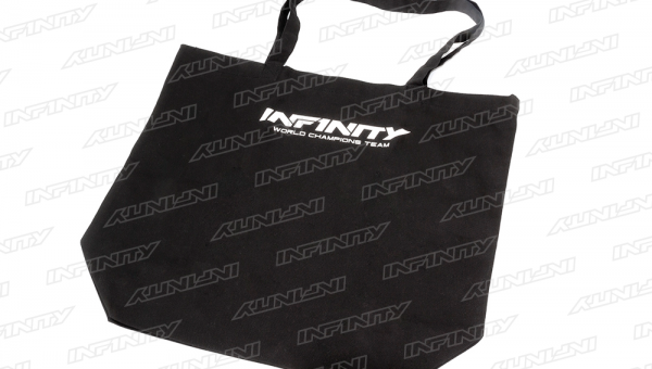 INFINITY CANVAS TOTE BAG (Black/ L size)