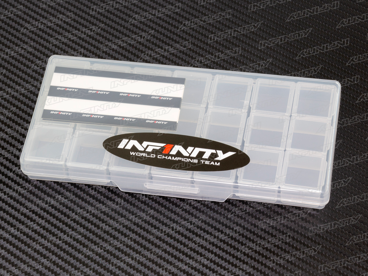 INFINITY SMALL PLASTIC PARTS CASE (3 Compartments /7pcs)